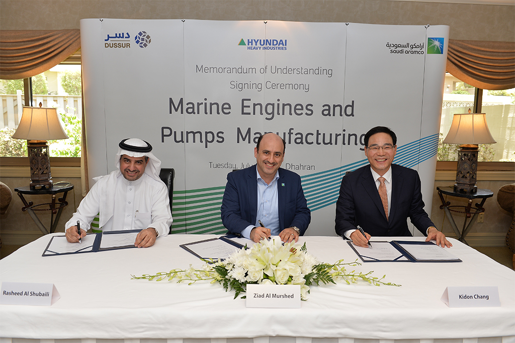 Saudi Aramco, Dussur, Hyundai sign MoU for engine manufacturing project